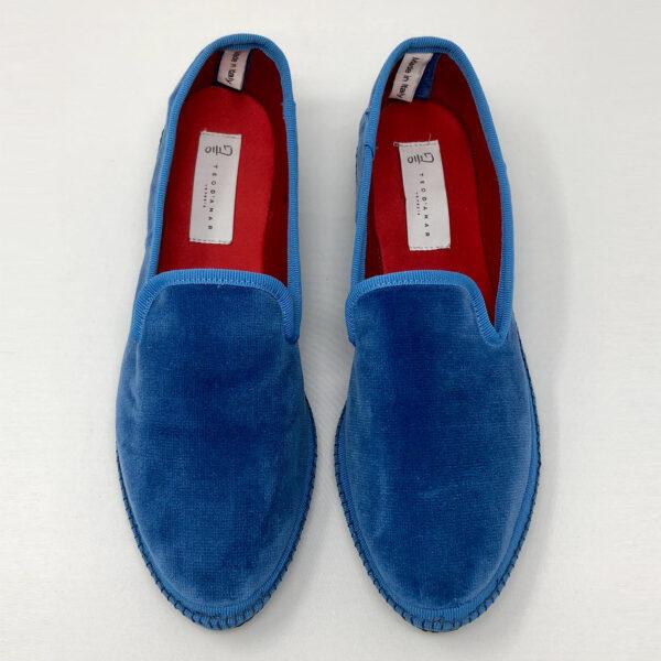Luxury furlana of bluette velvet