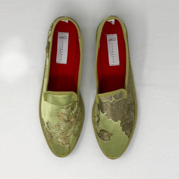 Luxury Furlana shoes of damask silk