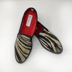 Luxury Furlana shoes of venetian fabric