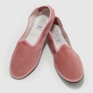 Furlane basic pink velvet, rubber sole