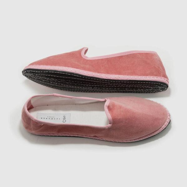 Furlane basic pink velvet, rubber sole